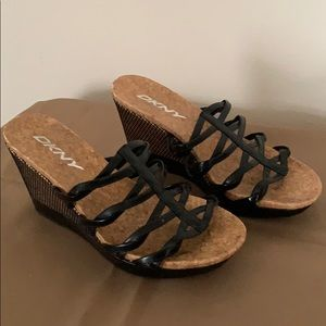 DKNY Wedge Sandals - Size 6.5